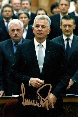 Dr.Pal Schmitt, Ungarns Präsident 2010-2012 Olympiasieger original signiert !!!