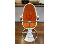 Bloom Fresco Chrome Harvest Orange High Chair