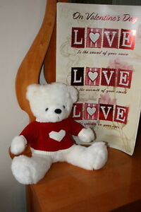 Valentine Poster Card and Heart Bear $8.00