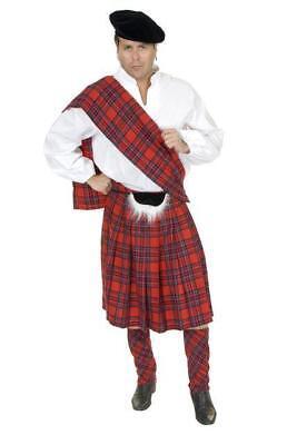 RED SCOTTISH KILT HALLOWEEN COSTUME ADULT SIZE LARGE 11-13