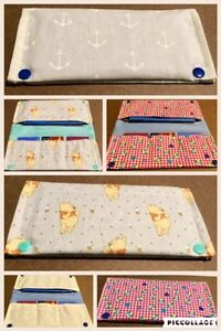 Vaccination book cover, Diaper Clutch, Teething bibs/accessories Cambridge Kitchener Area image 3