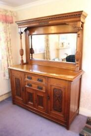 Oak Dresser Arts and Crafts style with mirror back