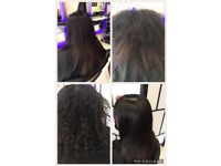 Brazilian keratin Blowdry £50, Japanese hair straightening 160