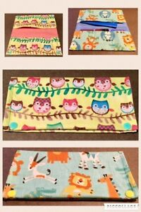 Vaccination book cover, Diaper Clutch, Teething bibs/accessories Cambridge Kitchener Area image 2