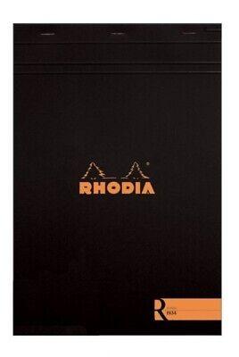 Rhodia R R182008 8 14 X 11 34 Staplebound Notepad Blank Paper Wblack