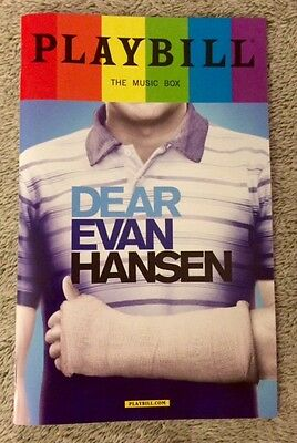 Dear Evan Hansen pride playbill! Ben Platt - Tony winner! Free, quick shipping!