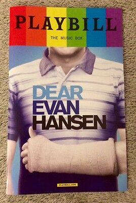 Купить Dear Evan Hansen PRIDE playbill (*Discounted - Read Details*) Ben Platt OBC