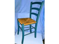 Van Gough, ladder back style dining chairs.