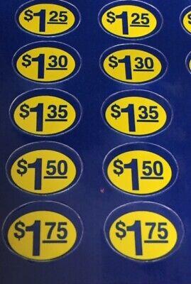 Over 850 Vinyl Vending Machine Price Stickers Brand New Free Ship Snack Or Soda