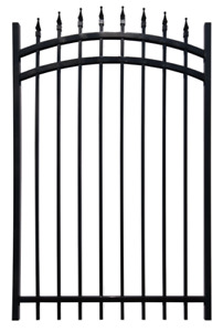 COLLINGWOOD IRON ORNAMENTAL ARCHED SINGLE GATE.