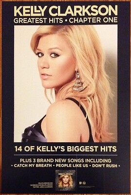 KELLY CLARKSON Greatest Hits Chapter One Ltd Ed RARE Poster+FREE Pop/Rock Poster