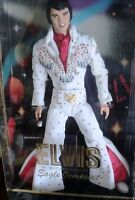 "12"" ELVIS PRESLEY DOLL, FAMOUS WHITE EAGLE JUMPSUIT NIB 2000"