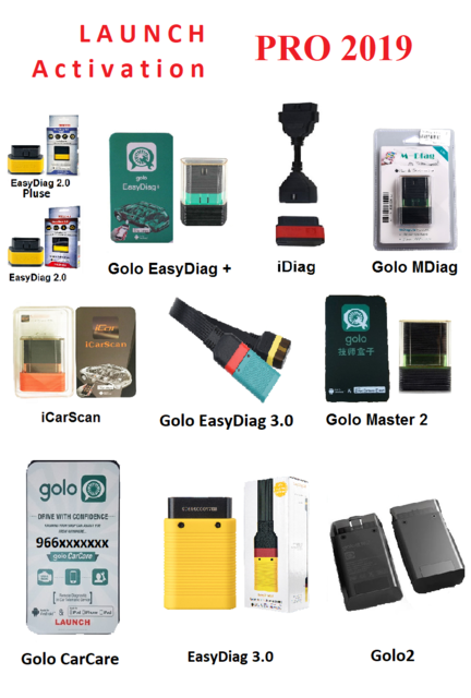 LAUNCH EASYDIAG 2.0,3.0,GOLO CARCARE X431PRO SOFTWARE.ALL BRANDS ONLINE 14 DAYS