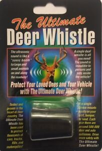 The ULTIMATE Deer Whistle - Single Whistle with Dual ports Ultrasonic Sound