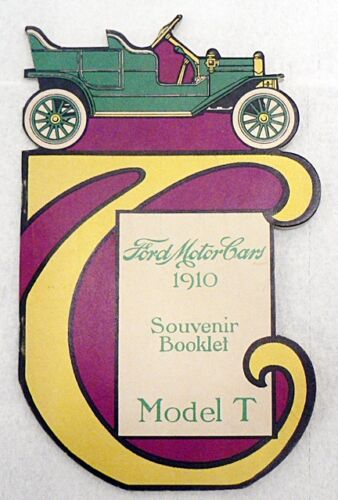 NEW FORD MOTOR CARS 1910 SOUVENIR BOOKLET MODEL T