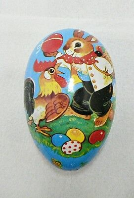 VINTAGE EAST GERMAN PAPER MAICHE EASTER EGG CANDY HOLDER LOT 2