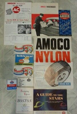 Vintage lot of AMOCO brochure post card ect ..advertising sign tires