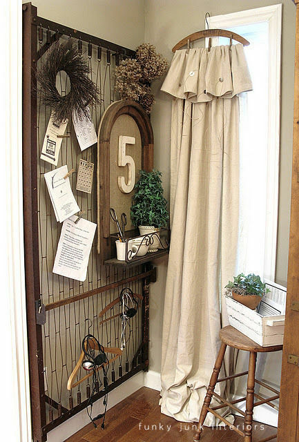 Create painter's drop cloth hanger side panels / part of 5 beautifully unique window treatments you can make yourself,