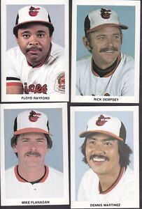 Lot de 7 cartes Baltimore Orioles Health Message 1986