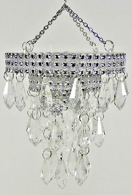 """ROUND-BATTERY OPERATED """"CHANDELIER"""" FOR DIORAMA-Barbie, Fashion Royalty *** NEW"""