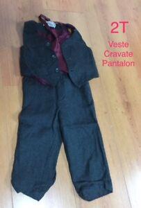 Veston-cravate pantalon 2T pour garçon