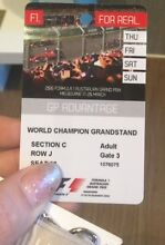 MELBOURNE F1 WORLD CHAMPION GRANDSTAND (4 Tickets for sale) Bandya Laverton Area Preview