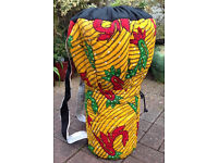 Djembe drum bags, backpack style made in Ghana. 9 different designs available