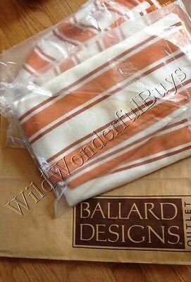 Ballard Designs Set 2 Nantucket Stripe Drapes Apricot 108  Curtains Outdoor Pair