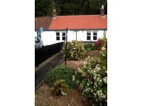 Charming 1 Bed Cottage in coastal village, lounge with woodburner; garden; easy commute Edinburgh