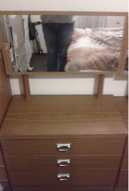bedroom set drawers with mirror