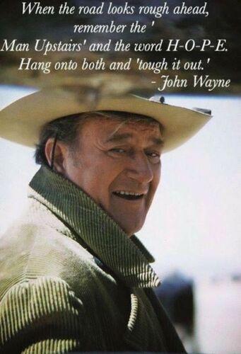 "John Wayne Quote refrigerator magnet 3 1/2 ""X 3 1/2 """