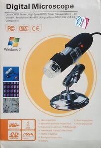 Digital Microscope Endoscope Camcorder 500xMagnifier