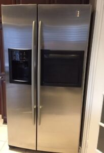 GE Profile Stainless Steel Refrigerator & Microwave