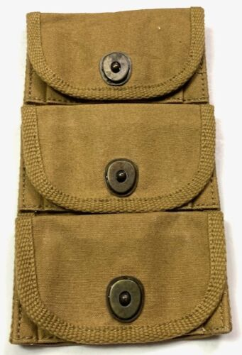 WWI US M1917 REVOLVER PISTOL 3 CELL AMMO POUCH