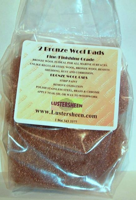 Lustersheen 2 Pad Pack Bronze Wool ~  Grade Fine