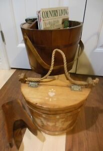 wood- bucket stand, mail box, boot jack London Ontario image 2