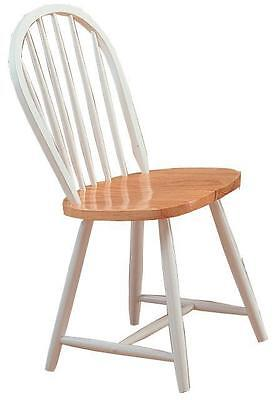 Damen Windsor Dining Chair in Natural and White by Coaster 4129 - Set of 2