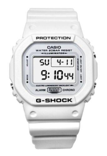 BRAND NEW CASIO G-SHOCK DW5600MW-7 GREY LCD WHITE DIGITAL MENS RESIN WATCH NWT!!
