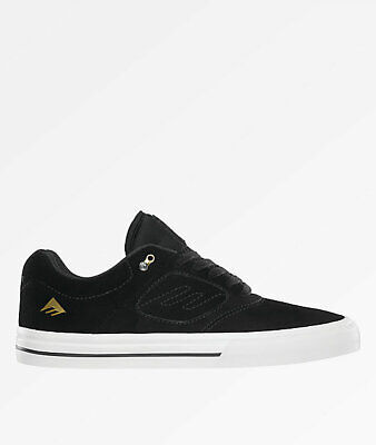 New Emerica Reynolds 3 G6 Vulc Black, White & Gold Skate Shoes Men's Sz 8.5 (Emerica Reynolds 3)