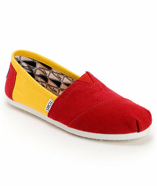 New Womens Toms Campus Classics USC Slip On Shoes rt