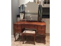 Stunning vintage solid wood dressing table