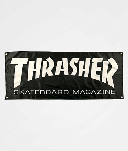 """Thrasher Skateboard Magazine Logo Cloth Fabric Garage New Wall Banner 62"""" x 24"""""""
