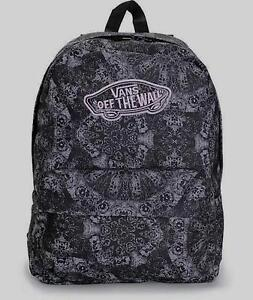 ffffcbdc0628 Vans Realm Classic Patch Kaleidoscope Black Print Backpack Bookbag New NWT