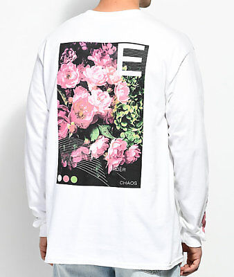 Empyre Order & Chaos White Long Sleeve T-Shirt Front Back Flowers NEW Authentic - Flower White Long Sleeve