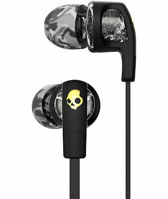 SKULLCANDY Smokin Bud 2 Black Grey Marble Supreme Sound Earbuds Headphone Mic  Smokin Bud Earbud Headphones