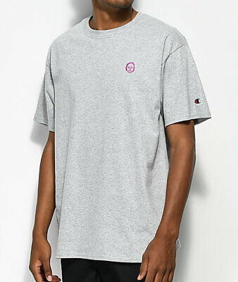 Champion Men's Earl Sweatshirt Embroidered Off Future Heather Gray T-Shirt New Grays Embroidered T-shirt