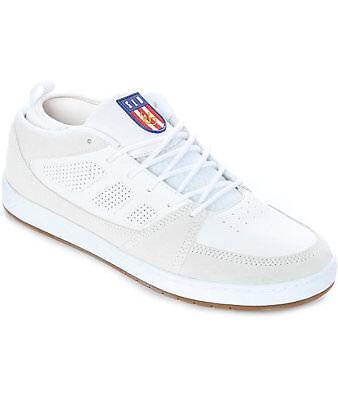 Es Slb Mid Mens 10 White Skate Shoes Skateboarding Suede Leather New Nib Skater