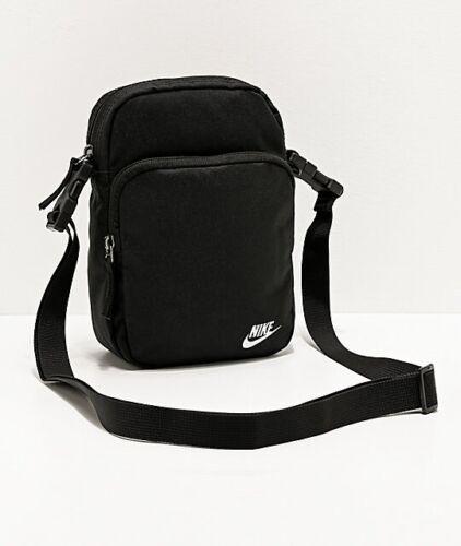 Nike Heritage 2.0 Black Shoulder Bag Crossbody Travel Small Items Bag BA5898