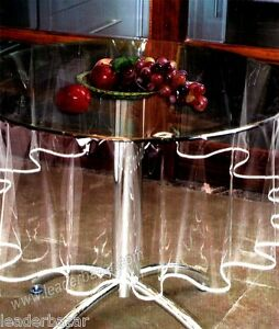 nappe transparente ronde avec bordure diam tre 180cm ebay. Black Bedroom Furniture Sets. Home Design Ideas