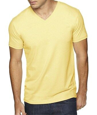 Next Level Mens Premium Sueded V Neck Solid T Shirt 6440